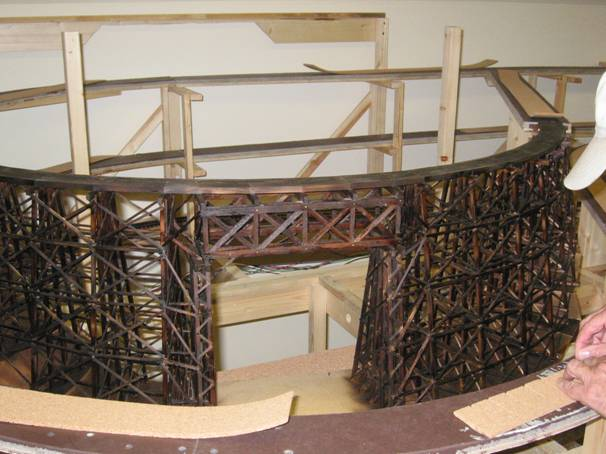 Trestle #1 - Stained and in place