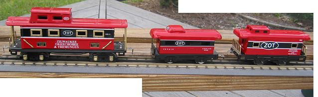 Full-sized O-gauge and the smaller ones
