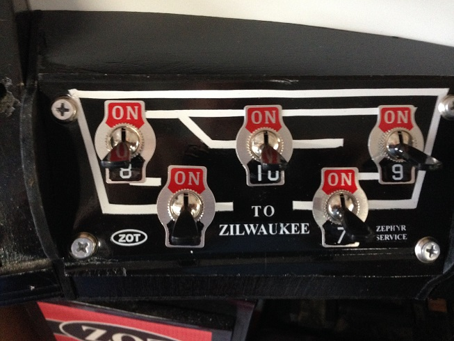 Block Shut Off Panel - Mainline and Storage Spurs